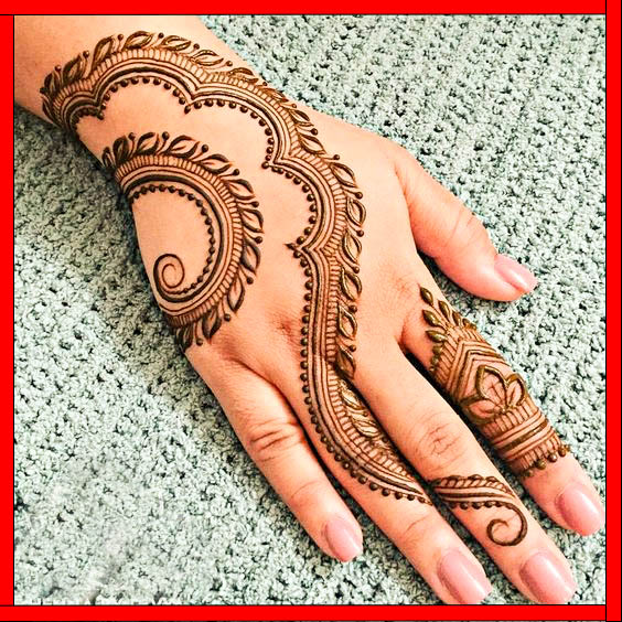 very simple mehndi