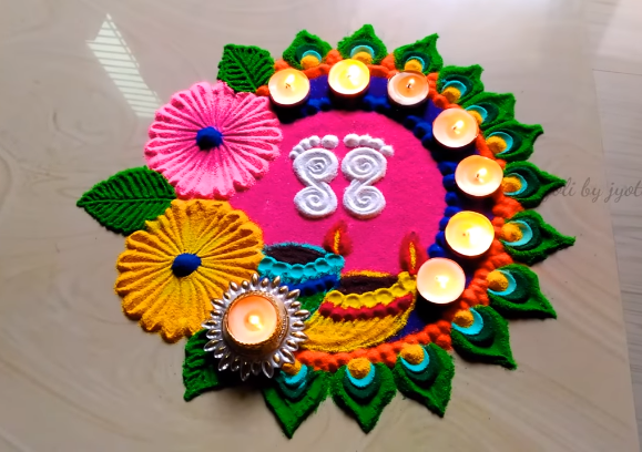 special rangoli for diwali 2019