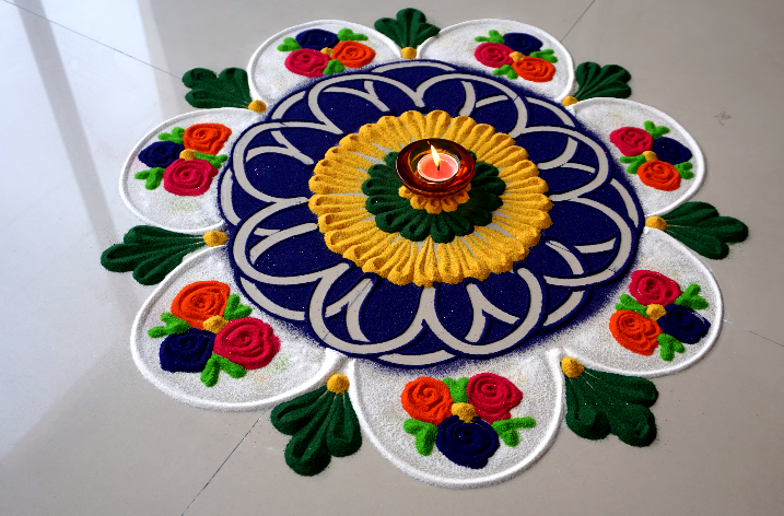 diwali simple rangoli designs