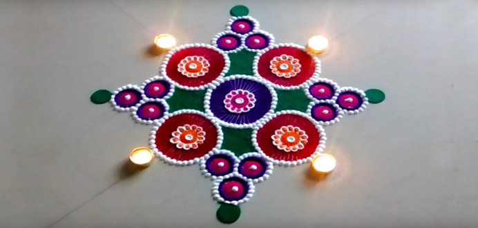 best design of rangoli 2019