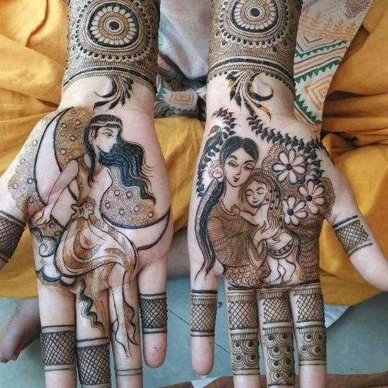 PRINCESS TO QUEEN MEHNDI DESIGN