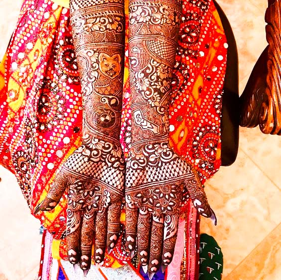 mehndi simple  designs