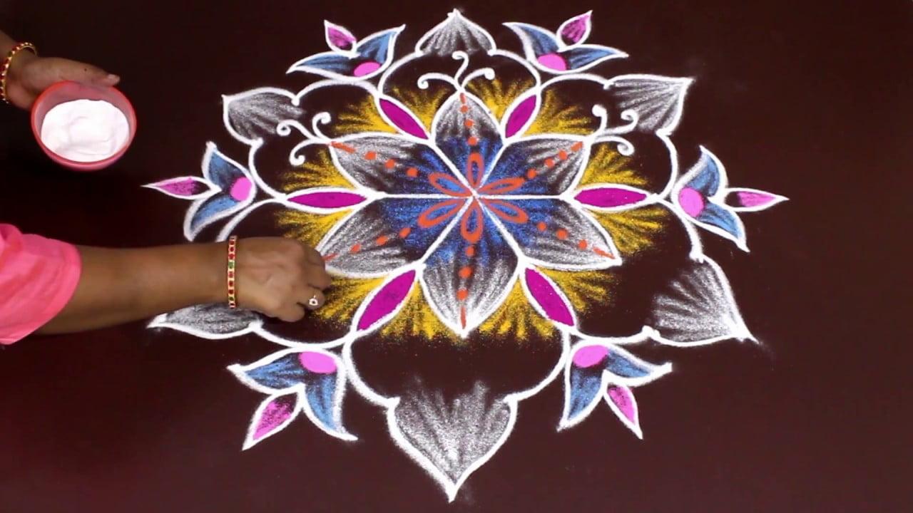 diwali design of rangoli