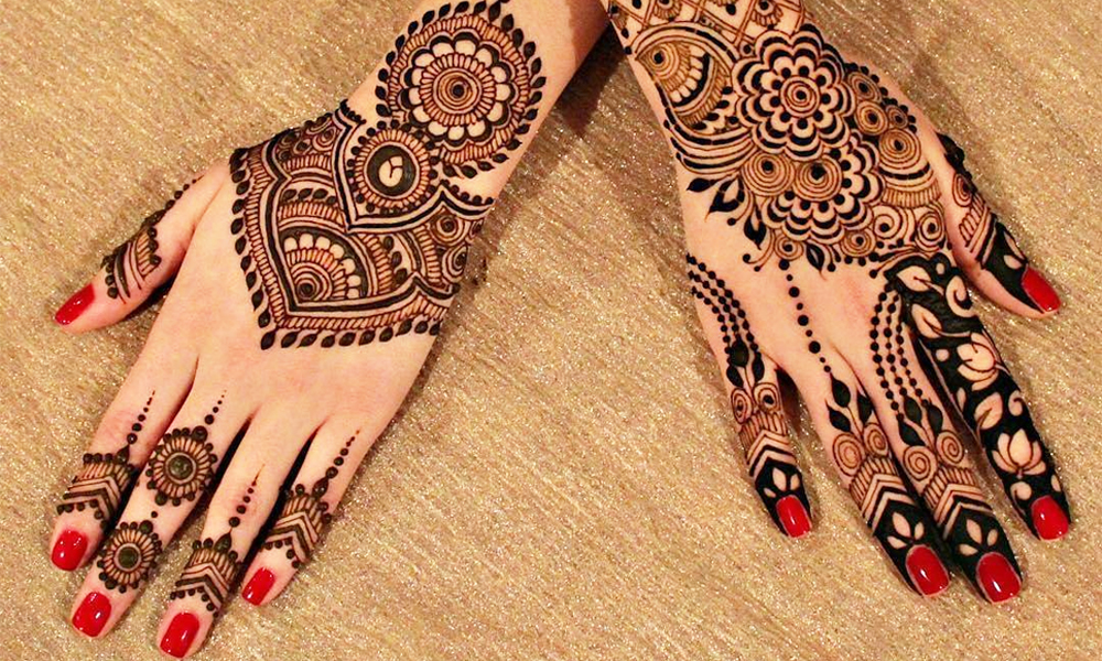 simple designs of mehndi
