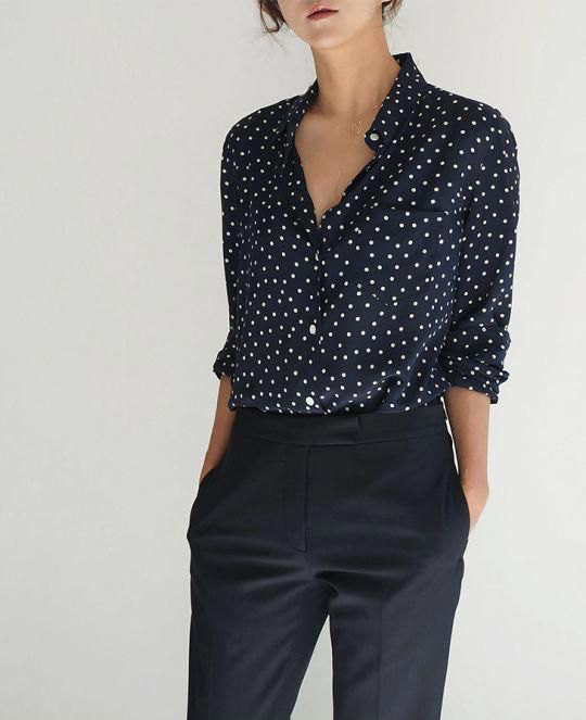 Blue and Grey Printed Shirt for Party for ladies