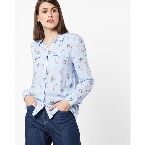 Light color Floral Printed Shirt for girls: