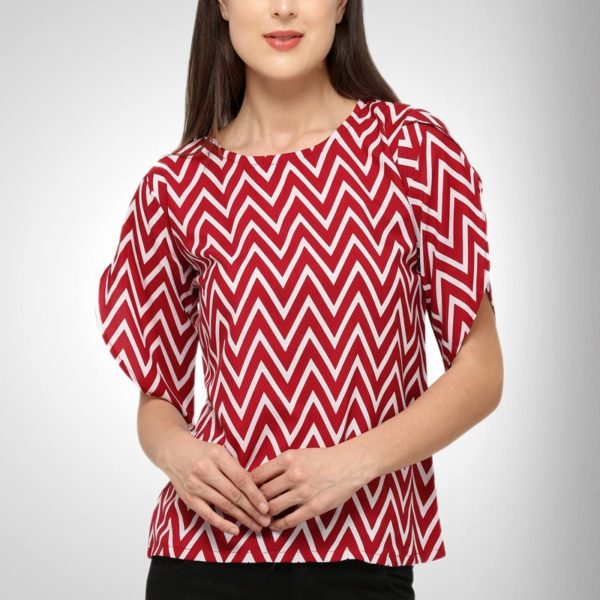 Zigzag Printed Shirt for women's